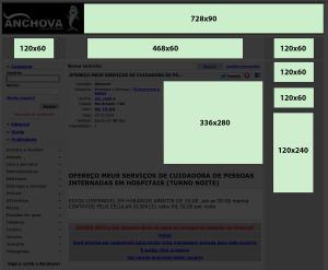 Banner layout - Página de visualização de anúncios e usuários
